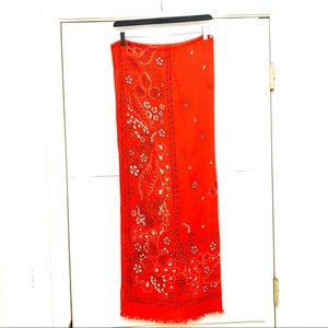 Other - ✨2/$20 Red Scarf that can be used as a sarong